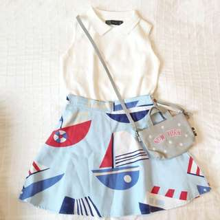Sailor Print Skirt ⚓️