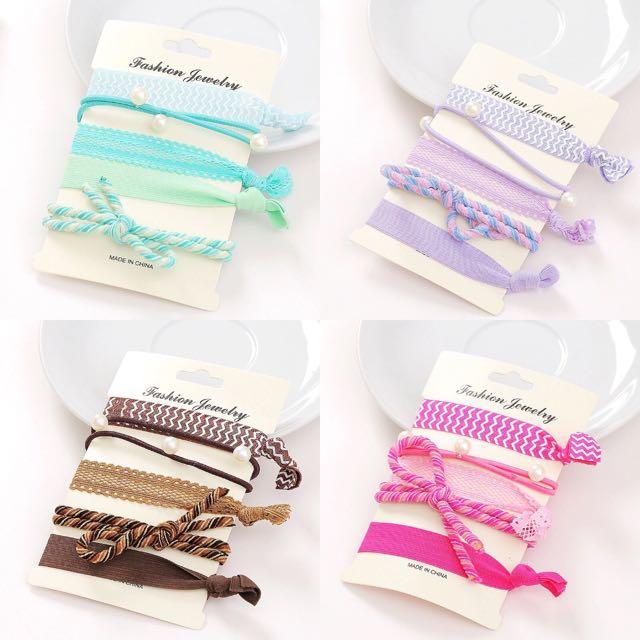 【韓式髮繩圈 髮圈手環飾品 高彈力髮圈】