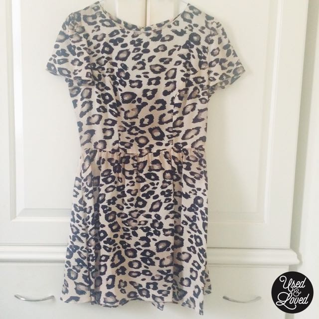 Topshop - Animal Print Flippy Dress
