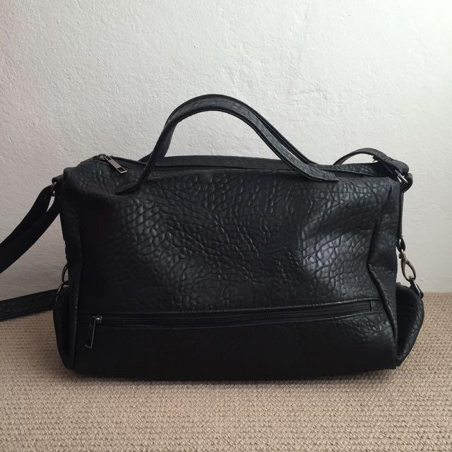 ASOS Black Pebbled Texture Shoulder Bag