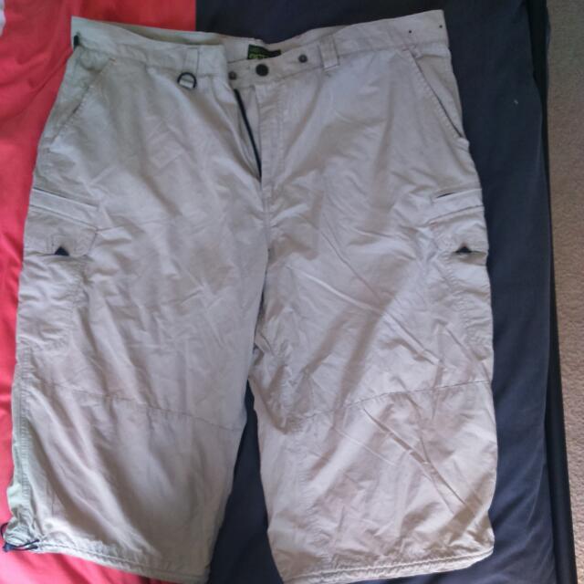 """Beige """"activewear"""" Shorts 44inch"""