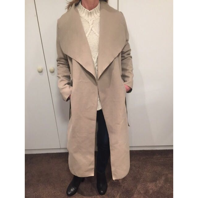 Beige/Brown Lightweight Waterfall Coat  - One Size Fits Most