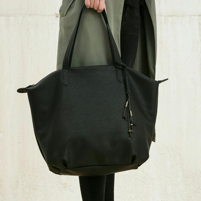 Bershka Shopper Bag With Zipper