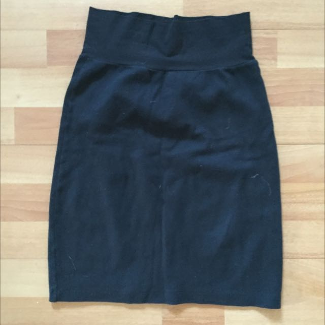 Black American Apparel Cotton Pencil Skirt