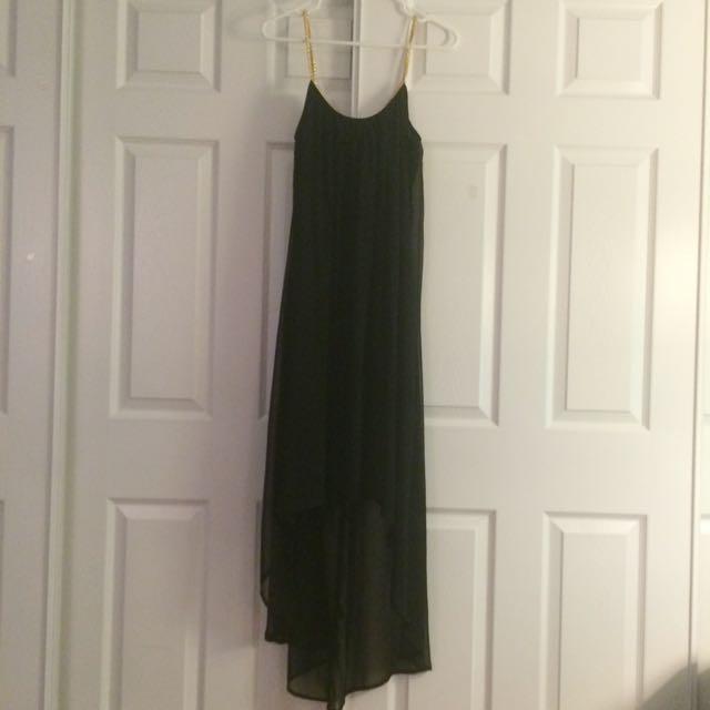 Black Sheer High-Low Dress