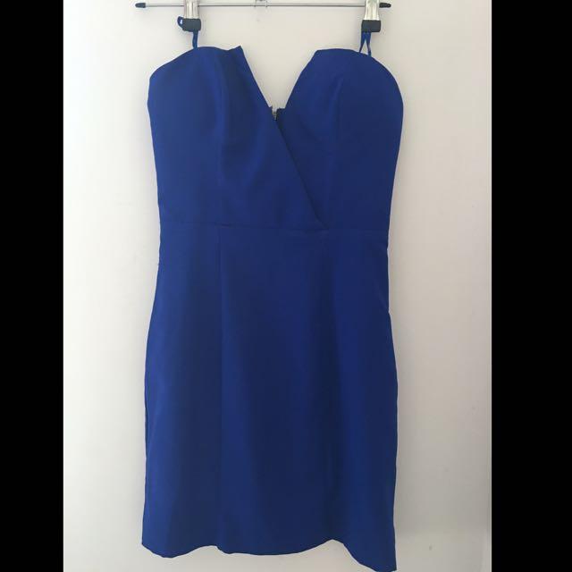 Blue Dotti Dress