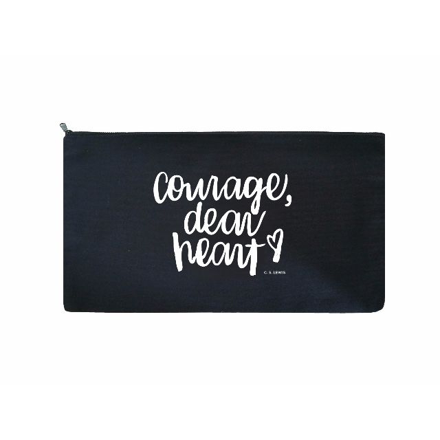 Brush Lettering Pouch / Pencil Case (Courage)