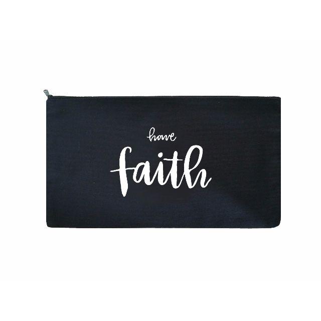 Brush Lettering Pouch / Pencil Case (Faith)