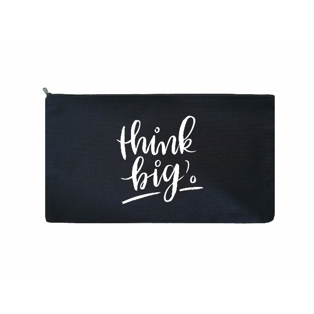 Brush Lettering Pouch / Pencil Case (Think Big)