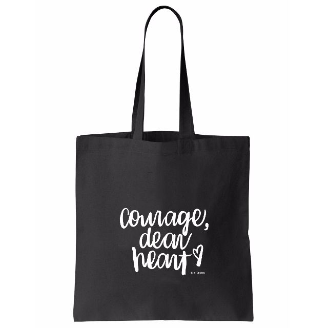 Brush Lettering Tote (Courage)