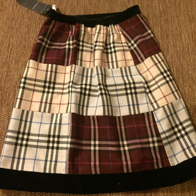 Burberry 拼接 A字裙 日本購入