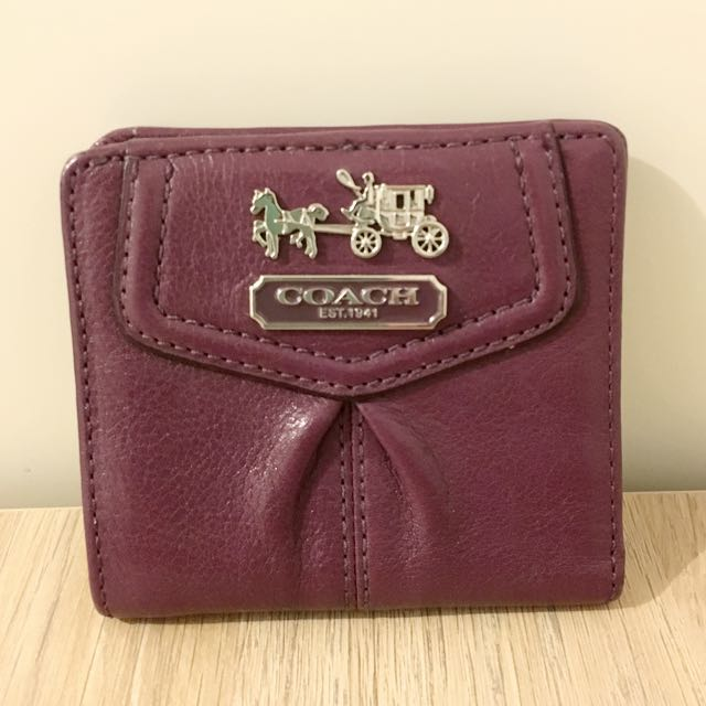 Coach Mini Leather Wallet