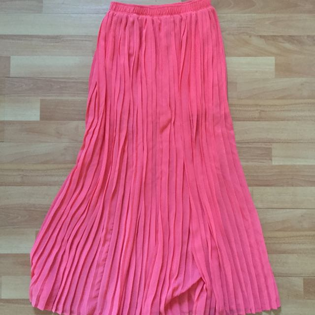 Coral Pink Flowy Skirt