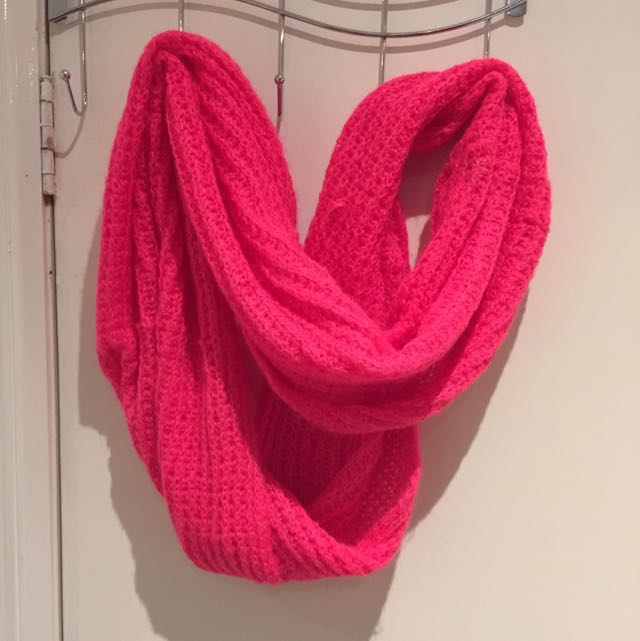 Cotton On Bright Pink Loop-scarf
