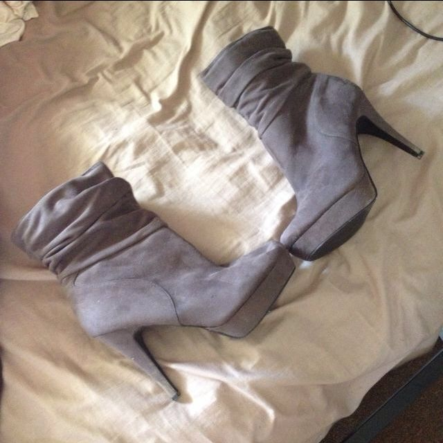Grey Boots Size 9