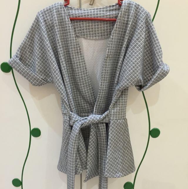 Grey Kimono Top/outer