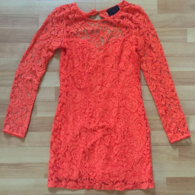 H&M Orange Lace Dress