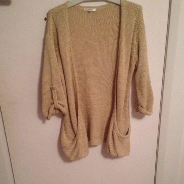 Knit Beige Cardigan