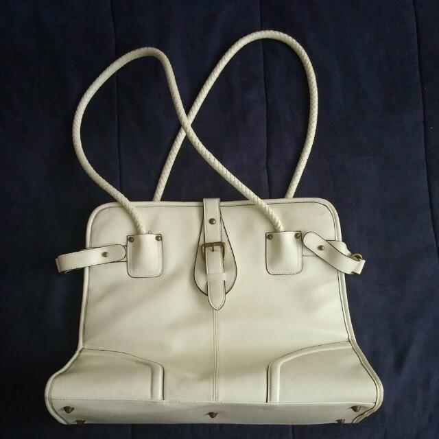 Large White Purse