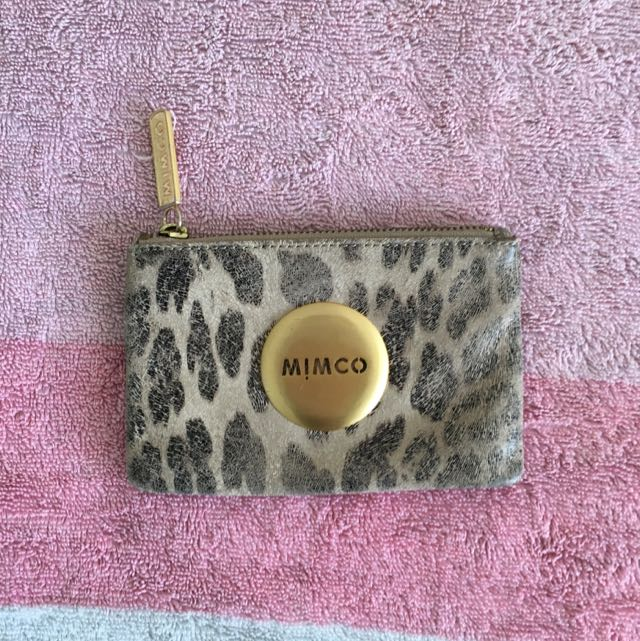 Mimco Small Flat Zip Up Wallet