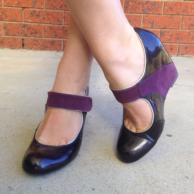 Patent Purple Wedge