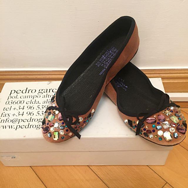 (Pedro Garcia) Swarovski Ballerina Flat Shoes