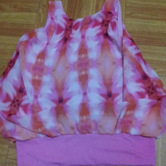 pinky floral blouse