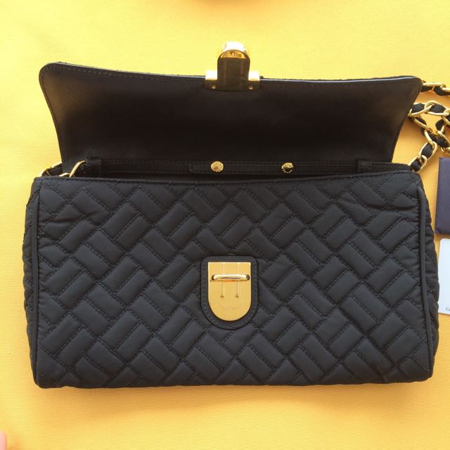 a3914182d8 Prada BP0584 Bandoliera in Nero Tessuto impuntu - black nylon in gold  hardware crossbody clutch with detachable sling