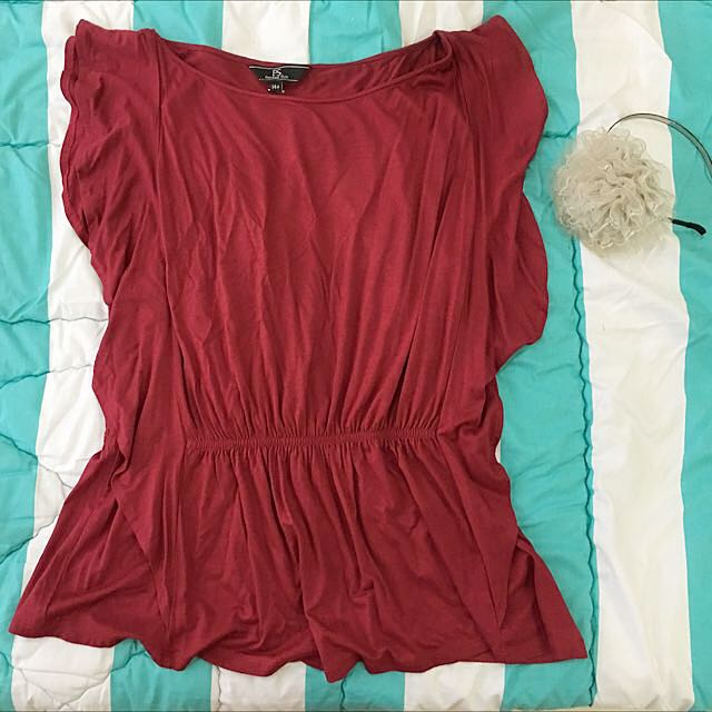P.S (Personal Style) Maroon Sleeveless top
