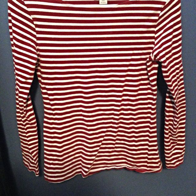 Red And White Stripey Top