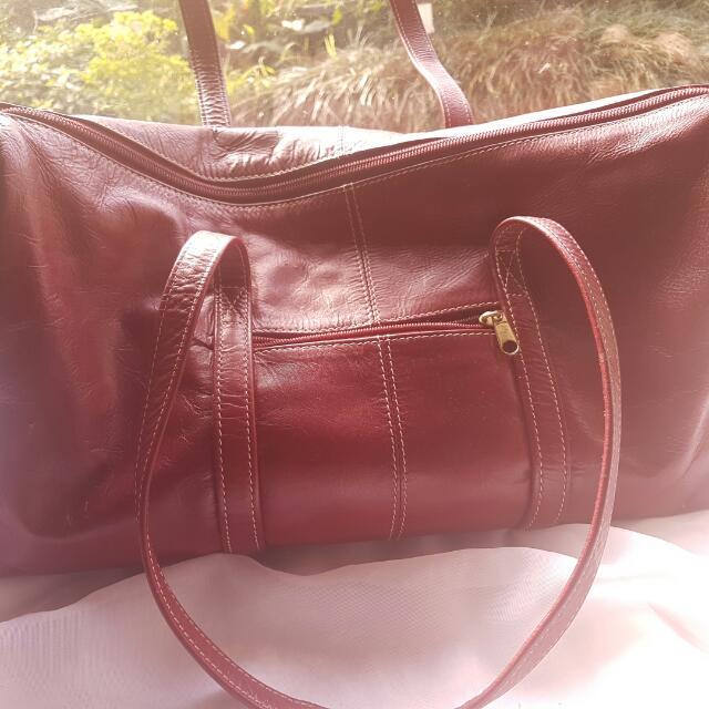 Red Premium Leather Bag