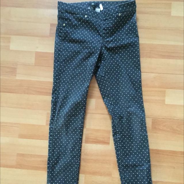 Skinny Polkedot H&M Pants
