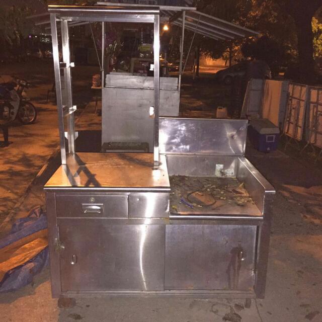 Stall Burger Utk Jual Peralatan Dapur Di Carou