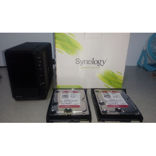 Synology DS214play ( 2 BAY) with 2 units of 3TB HDD (RED)