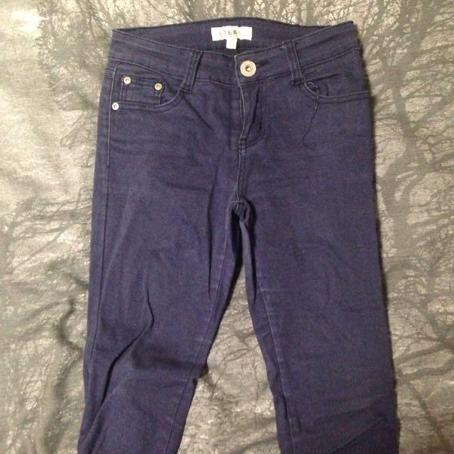 Temt Skinny Jeans Purple