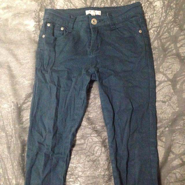 Temt Skinny Jeans Teal