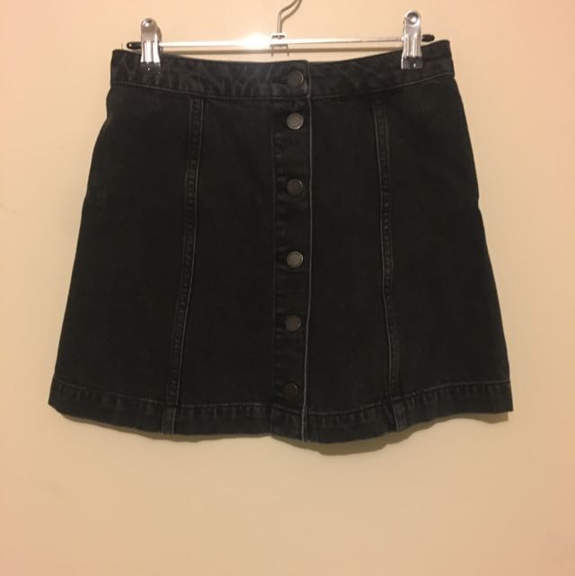 Topshop Moto Denim Skirt
