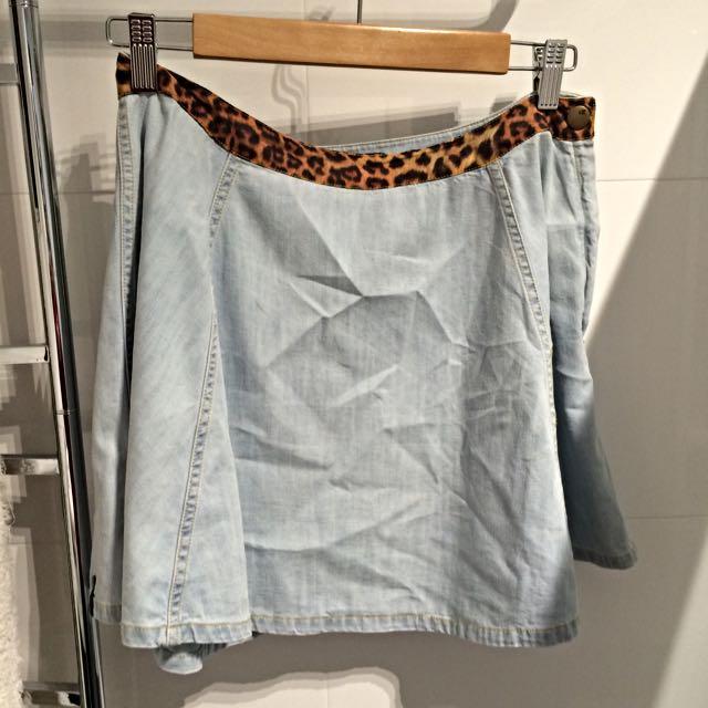 Von Zipper Denim Skirt