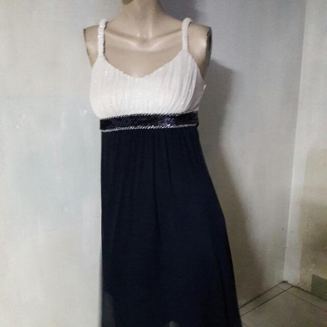 White/blue Party Dress