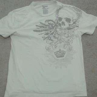 White Skull T Shirt