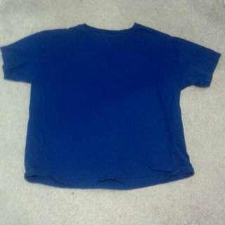 Plain Blue T Shirt