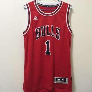 (全新)公牛Rose 紅色籃球衣XS