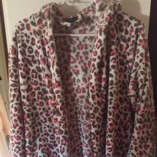 Bluenotes Pink Leopard Print Robe