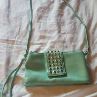 Small Mint Purse/Clutch