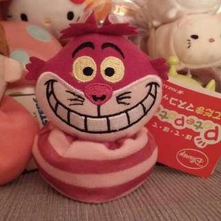 Disney 妙妙貓 Cheshirecat 豆豆公仔