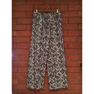 H&M Snake Skin Patterned Pants