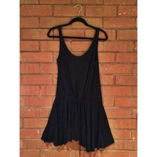 AMERICAN APPAREL Black Tie Dress