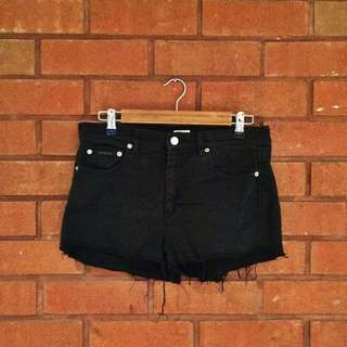 CALVIN KLEIN Black Denim Shorts