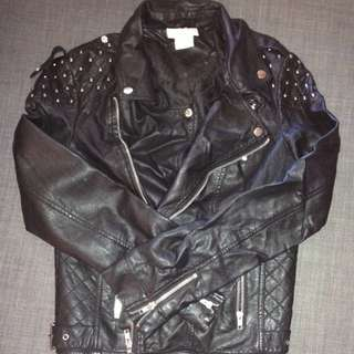 Lily White Leather Jacket - 10