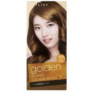 [Free Postage] THE FACE SHOP Stylist Sliky Hair Color Cream - Golden Blonde (10N)